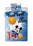 Obliečky Mickey Mouse basketbal 140/200