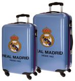 Sada cestovných kufrov ABS Real Madrid One color one club blue 55/67 cm