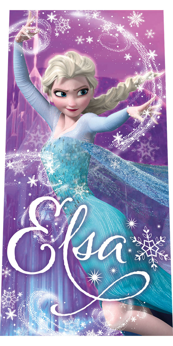 a7042559e Plážová osuška Ľadové Kráľovstvo Elsa lila 70/140 cm