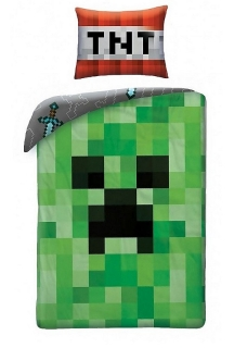 Obliečky Minecraft Creeper Face 140/200,70/90