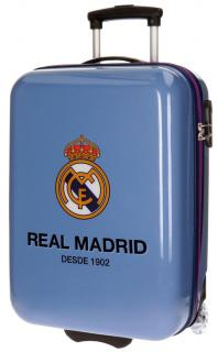 Cestovný kufor ABS Real Madrid club blue 55 cm