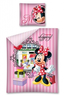 Obliečky Minnie Shopping 140/200 cm