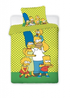 Obliečky Simpsons yellow 140/200 cm