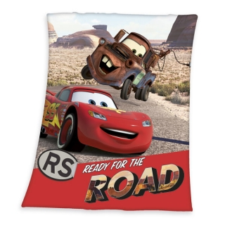 Fleece deka Cars Blesk a Mater Road 130/160 cm