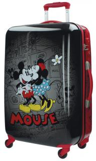 Cestovný kufor ABS Mickey a Minnie Retro Black 67 cm