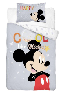 Obliečky do postieľky Mickey Cool grey 100/135, 40/60