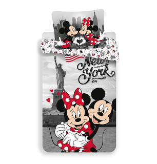 Obliečky Mickey a Minnie v New Yorku Love 140/200, 70/90